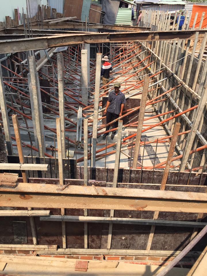 Công trình nhà phố đang thi công của anh nguyễn quận 2, TP. Hồ chí minh
