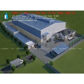 Thi công nhà máy chế biến thủy sản Long Thủy